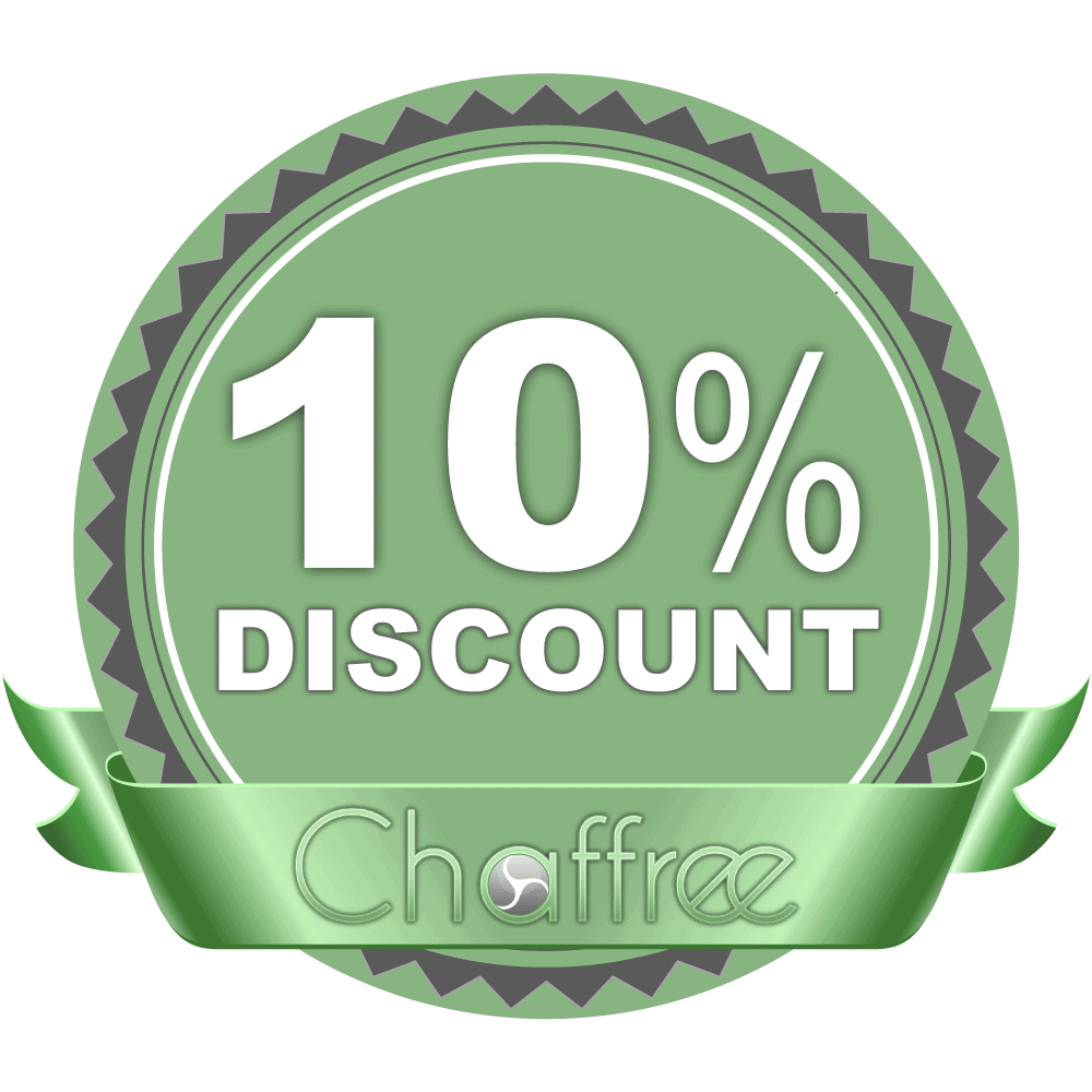 10% Chaffree Discount Code