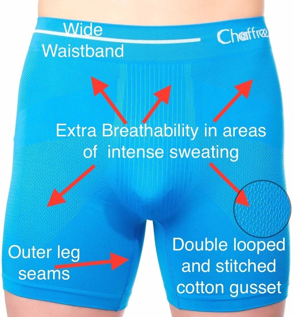 mens moisture wicking boxer shorts for hyperlipidemia and lymphoedema sufferers