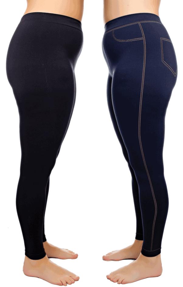 black and denim coolmax leggings