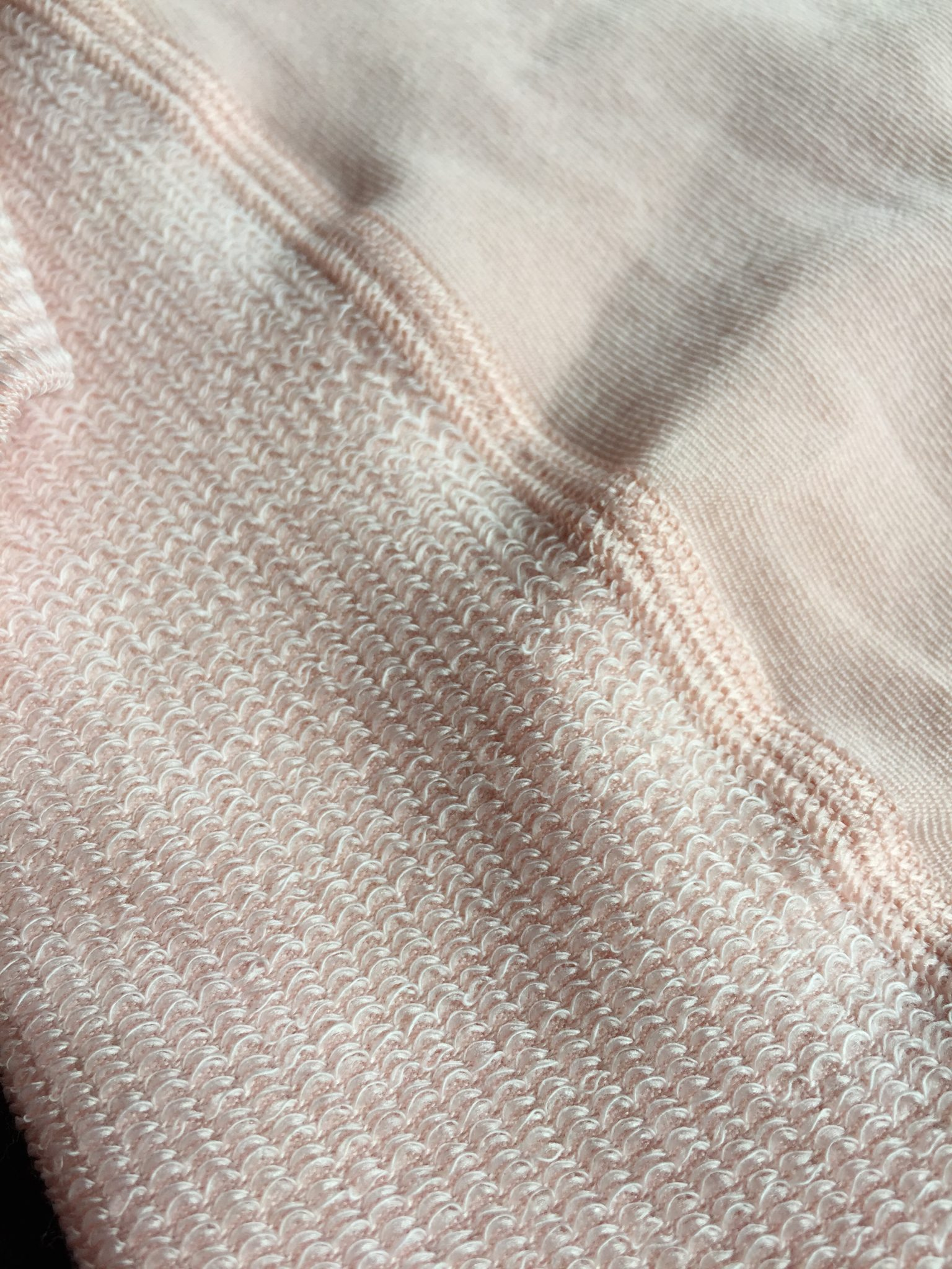 cotten gusset and flat seams