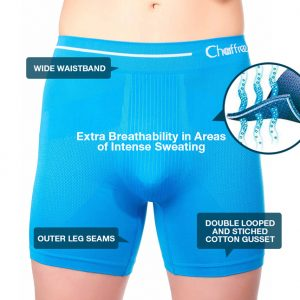 mens boxers short to help stop sweating and chafing