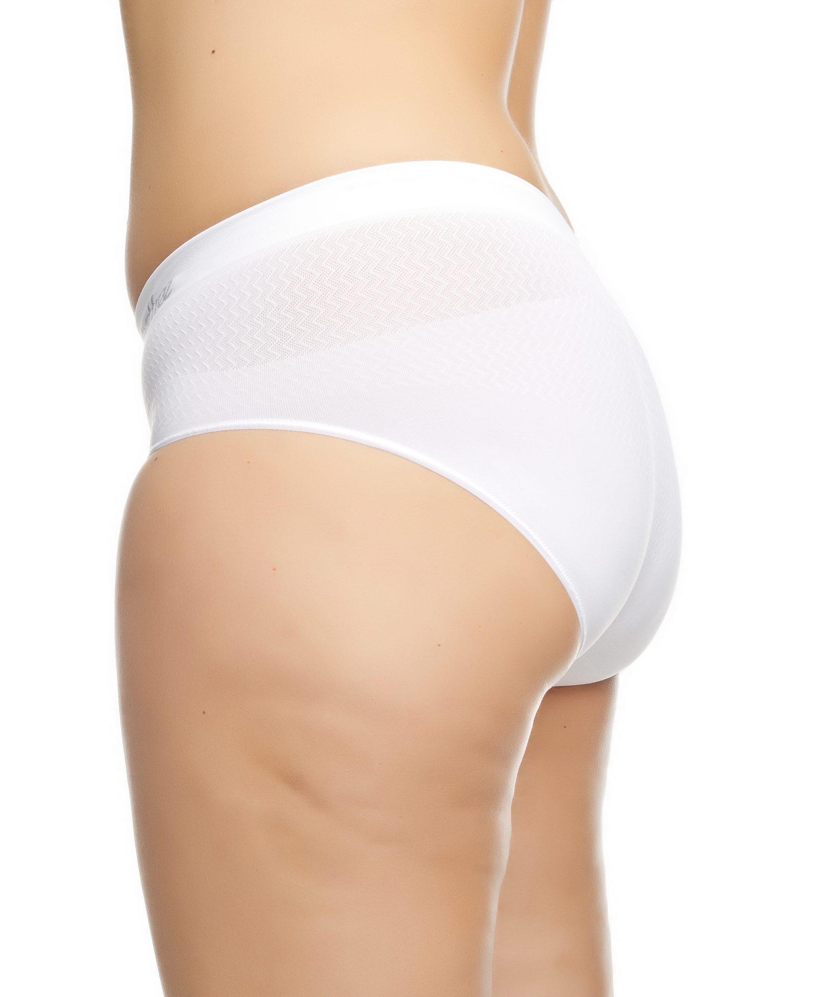 chaffree white midi waist briefs