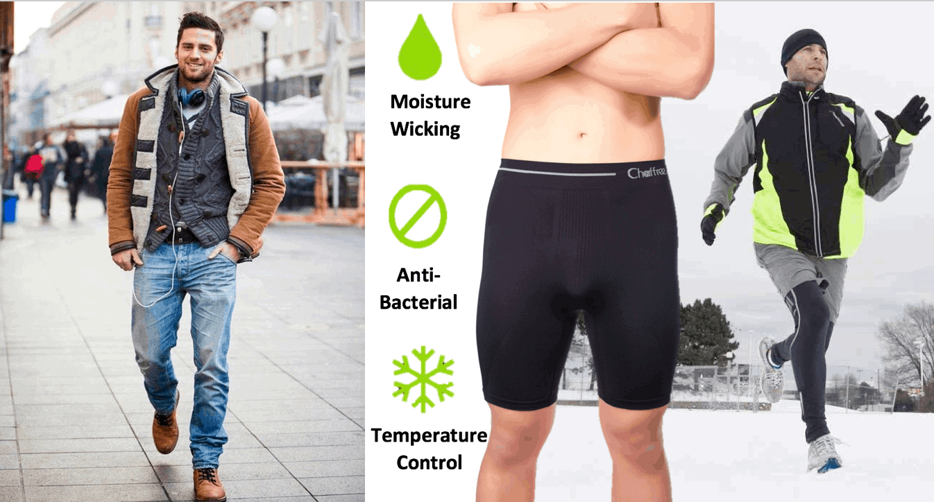 chaffree mens breathable underwear helps to protect your skin throughout the winter