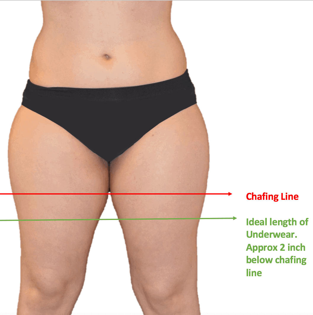 STOP THE CHAFE - How to find chafing line and best fitting for anti chafing underwear