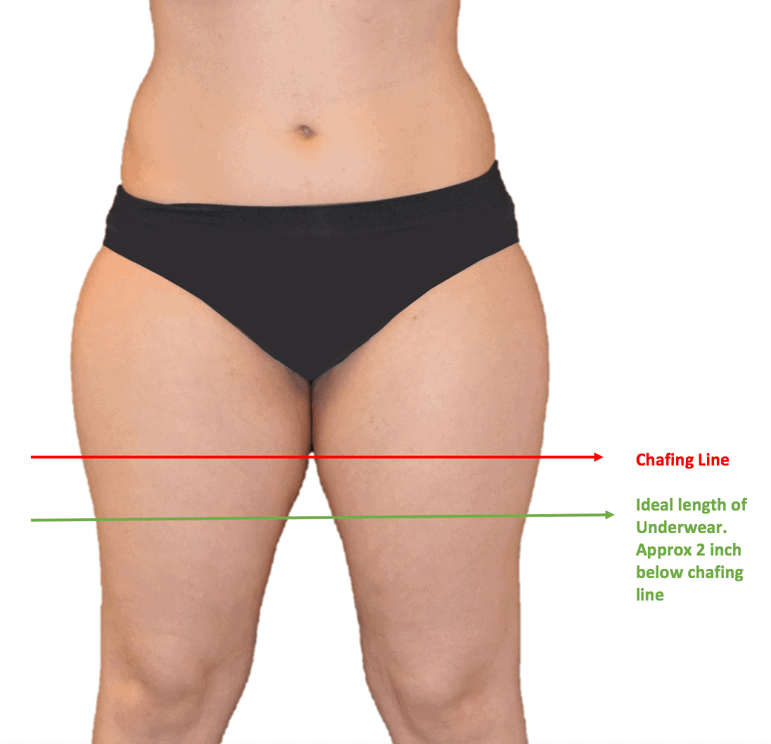 How to find chafing line and best fitting for anti chafing underwear