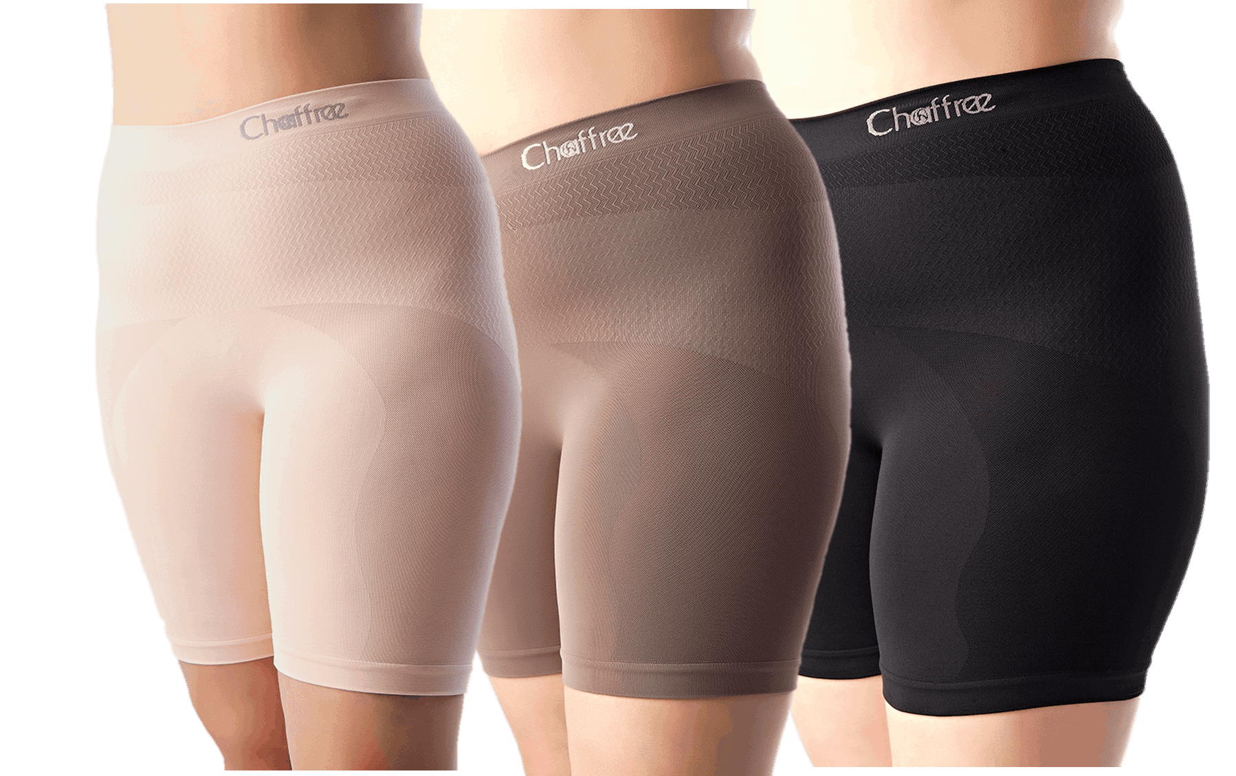 Chaffree anti chafing long leg knicker boxers giving sweat relief as protection against chafing