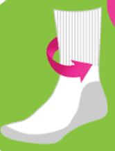 Gentle rib anti chafing cushioned socks. Non fall down