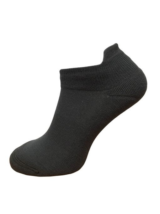 black ankle socks with protective ankle lip COOLMAX sweat control