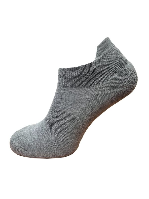 ankle socks grey cushioned heel and sole gentle elasticated top for the perfect fit, ankle lip to help keep sock in place