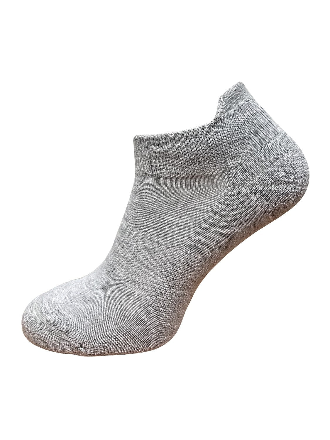 ankle socks with ankle support and protection grey