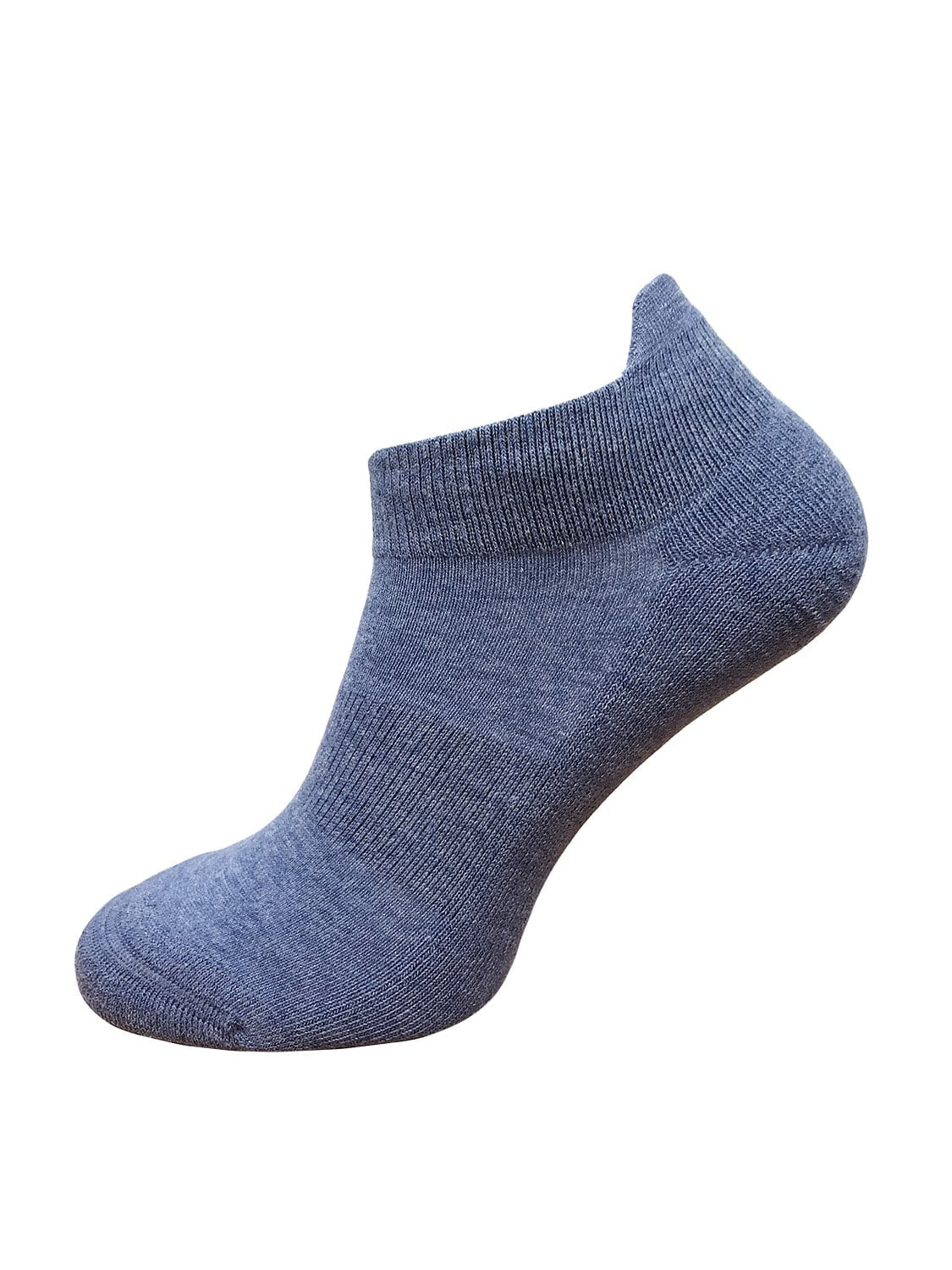 ankle socks blue cushioned heel and sole gentle elasticated top for a better fit