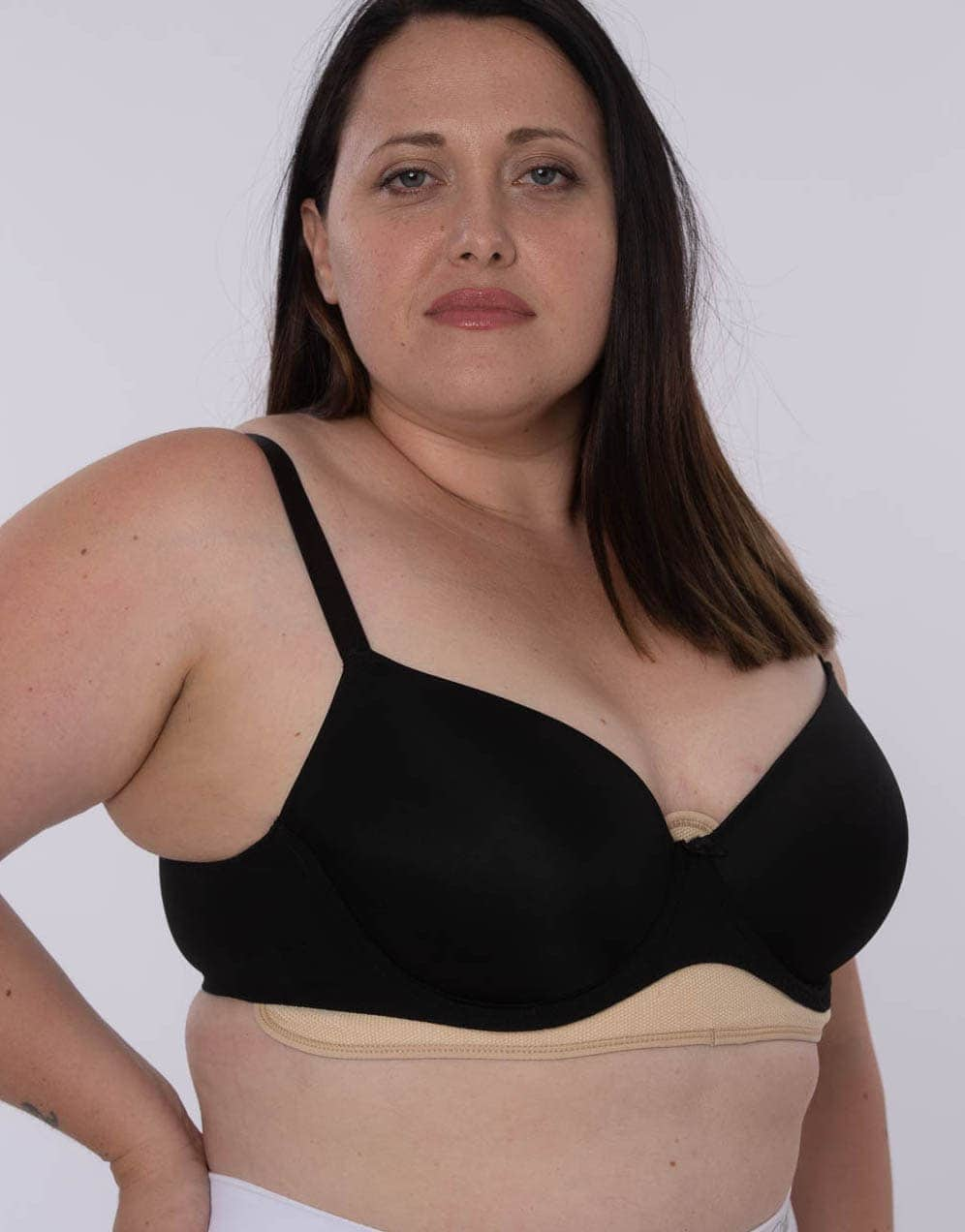 black bra sweat liners controls sweats and gives relief from chafing