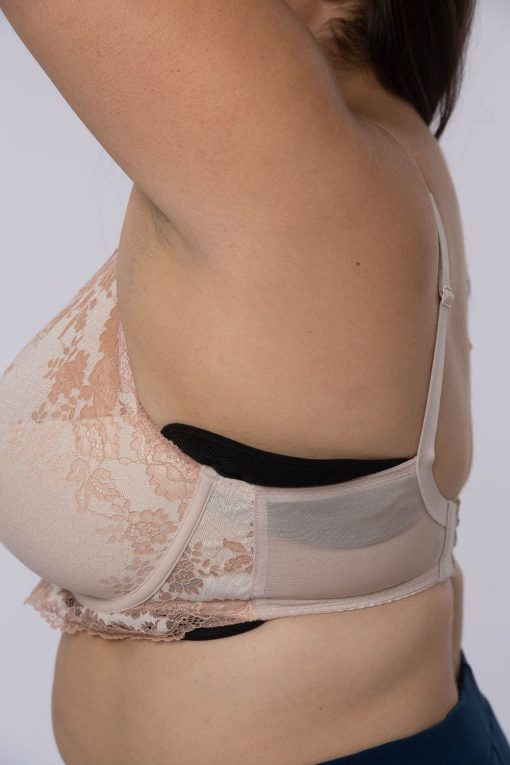 Sweat control, anti chafing sweat control bra liners nude, black or white. Fits any bra style or cup size