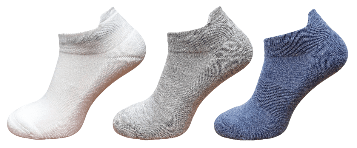 cushioned ankle socks with arch support and ankle lip Coolmax moisture control