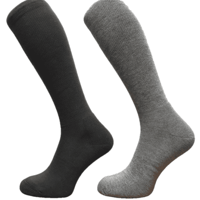 black and grey knee high long socks coolmax